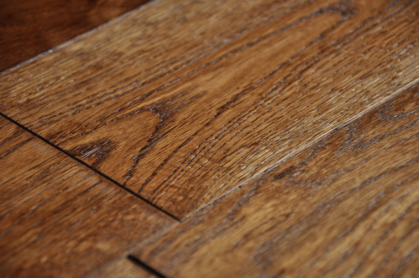 Smoked coffee 18x125mm real natural solid wood for Real oak hardwood flooring