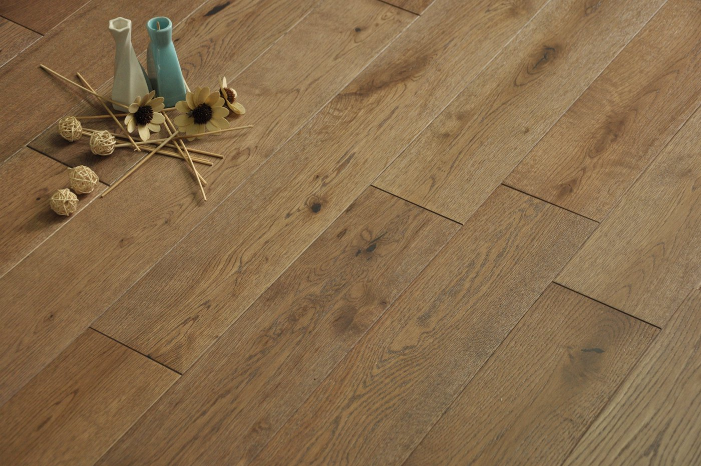 Brushed brown wheat 18mm x 125mm real natural solid for Engineered wood flooring philippines